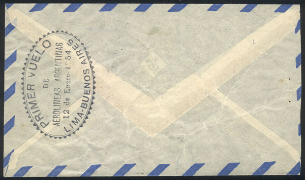 Lot 1845 - Argentina postal history -  Guillermo Jalil - Philatino Auction # 2116 ARGENTINA: