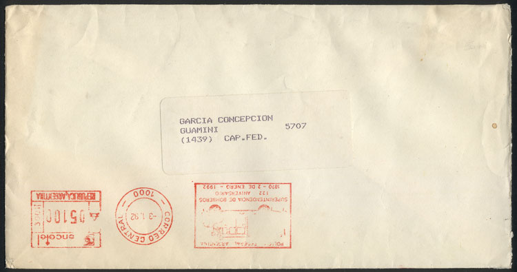 Lot 1903 - Argentina postal history -  Guillermo Jalil - Philatino Auction # 2116 ARGENTINA: