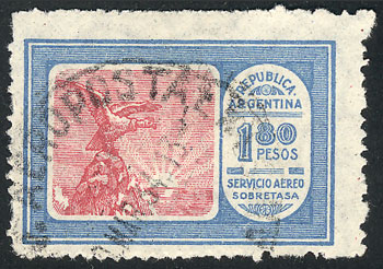 Lot 1388 - Argentina airmail -  Guillermo Jalil - Philatino Auction # 2116 ARGENTINA: