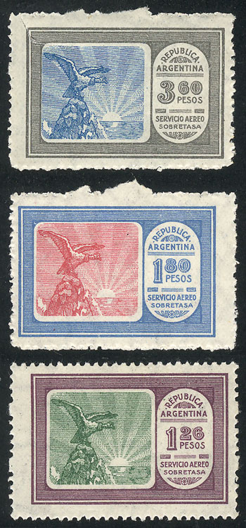 Lot 1387 - Argentina airmail -  Guillermo Jalil - Philatino Auction # 2116 ARGENTINA: