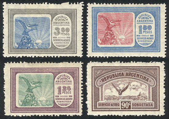 Lot 1385 - Argentina airmail -  Guillermo Jalil - Philatino Auction # 2116 ARGENTINA: