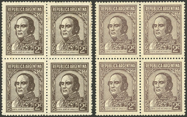 Lot 450 - Argentina general issues -  Guillermo Jalil - Philatino Auction # 2117 ARGENTINA: small but very attractive auction