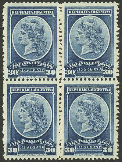 Lot 1449 - Argentina official stamps -  Guillermo Jalil - Philatino Auction # 2117 ARGENTINA: small but very attractive auction