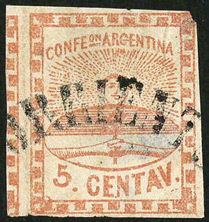 Lot 19 - Argentina confederation -  Guillermo Jalil - Philatino Auction # 2117 ARGENTINA: small but very attractive auction