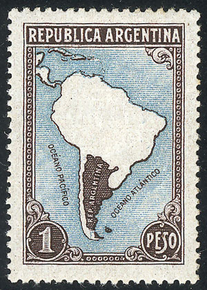 Lot 486 - Argentina general issues -  Guillermo Jalil - Philatino Auction # 2117 ARGENTINA: small but very attractive auction