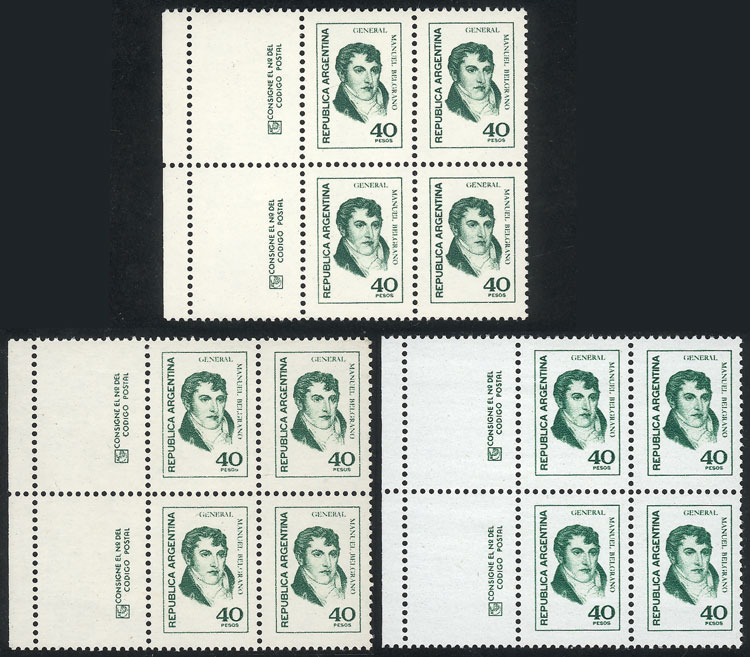 Lot 1026 - Argentina general issues -  Guillermo Jalil - Philatino Auction # 2117 ARGENTINA: small but very attractive auction