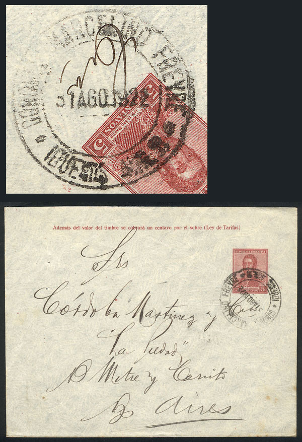 Lot 1639 - Argentina postal history -  Guillermo Jalil - Philatino Auction # 2117 ARGENTINA: small but very attractive auction