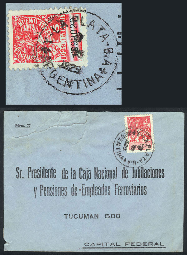Lot 1643 - Argentina postal history -  Guillermo Jalil - Philatino Auction # 2117 ARGENTINA: small but very attractive auction