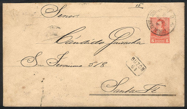 Lot 1624 - Argentina postal history -  Guillermo Jalil - Philatino Auction # 2117 ARGENTINA: small but very attractive auction