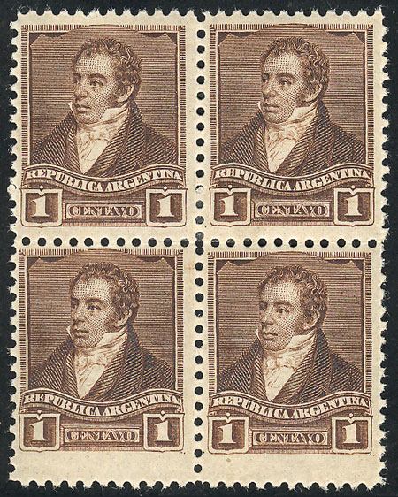 Lot 128 - Argentina general issues -  Guillermo Jalil - Philatino Auction # 2117 ARGENTINA: small but very attractive auction