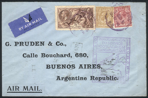 Lot 2113 - Great Britain postal history -  Guillermo Jalil - Philatino Auction # 2120 WORLDWIDE + ARGENTINA: General June auction