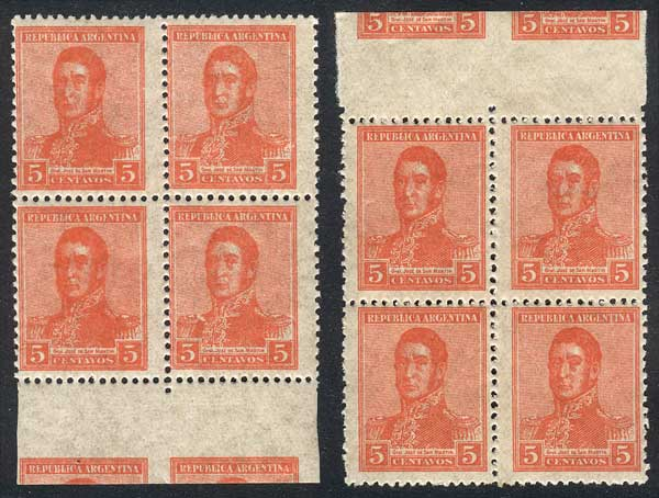 Lot 554 - Argentina general issues -  Guillermo Jalil - Philatino Auction # 2120 WORLDWIDE + ARGENTINA: General June auction