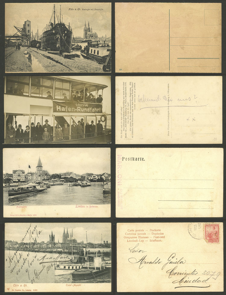 Lot 96 - germany postcards -  Guillermo Jalil - Philatino Auction # 2120 WORLDWIDE + ARGENTINA: General June auction