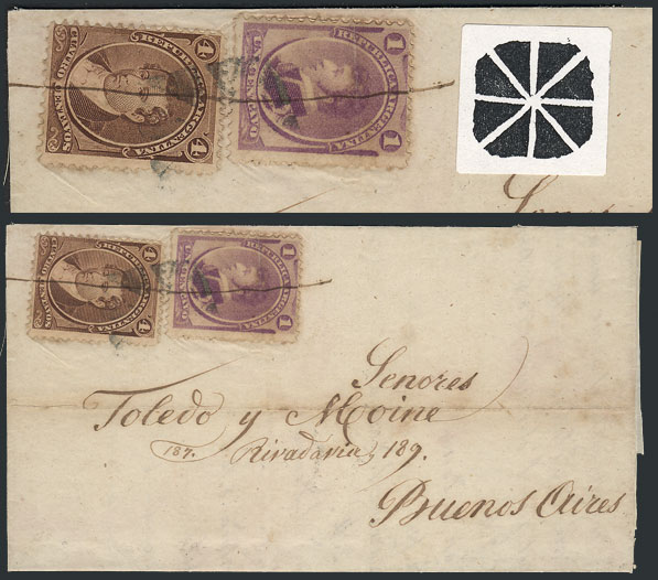 Lot 831 - Argentina postal history -  Guillermo Jalil - Philatino Auction # 2120 WORLDWIDE + ARGENTINA: General June auction