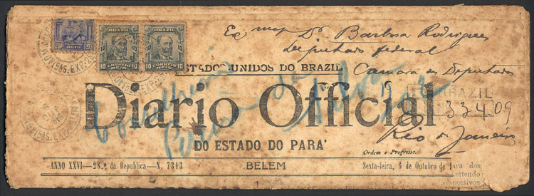 Lot 1374 - brazil postal history -  Guillermo Jalil - Philatino Auction # 2120 WORLDWIDE + ARGENTINA: General June auction