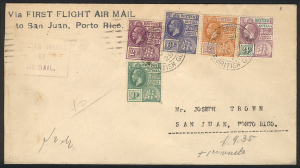 Lot 2162 - british guiana postal history -  Guillermo Jalil - Philatino Auction # 2120 WORLDWIDE + ARGENTINA: General June auction