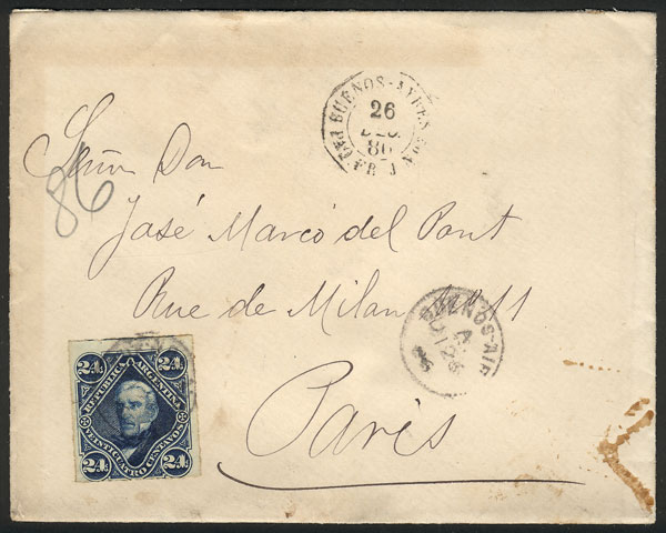 Lot 853 - Argentina postal history -  Guillermo Jalil - Philatino Auction # 2120 WORLDWIDE + ARGENTINA: General June auction