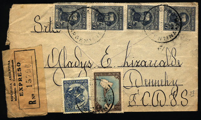 Lot 967 - Argentina postal history -  Guillermo Jalil - Philatino Auction # 2120 WORLDWIDE + ARGENTINA: General June auction