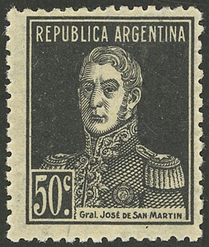 Lot 22 - Argentina general issues -  Guillermo Jalil - Philatino Auction # 2121 ARGENTINA: Special auction,118 lots with VERY LOW STARTS!!