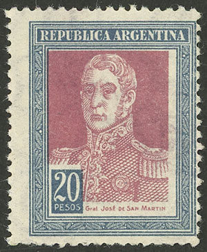 Lot 23 - Argentina general issues -  Guillermo Jalil - Philatino Auction # 2121 ARGENTINA: Special auction,118 lots with VERY LOW STARTS!!