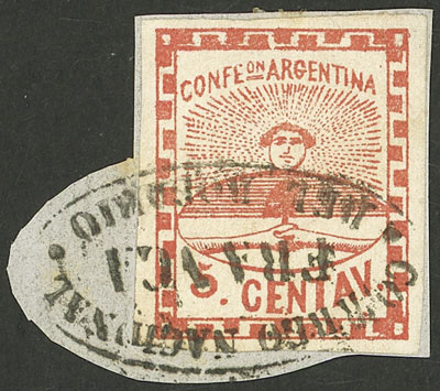 Lot 2 - Argentina confederation -  Guillermo Jalil - Philatino Auction # 2121 ARGENTINA: Special auction,118 lots with VERY LOW STARTS!!