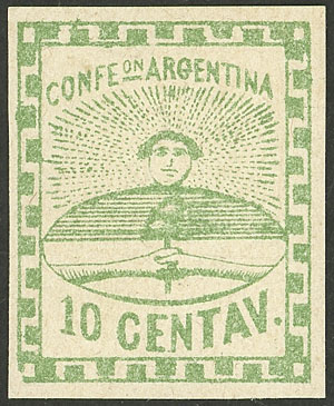 Lot 4 - Argentina confederation -  Guillermo Jalil - Philatino Auction # 2121 ARGENTINA: Special auction,118 lots with VERY LOW STARTS!!