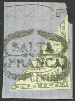Lot 3 - Argentina confederation -  Guillermo Jalil - Philatino Auction # 2121 ARGENTINA: Special auction,118 lots with VERY LOW STARTS!!