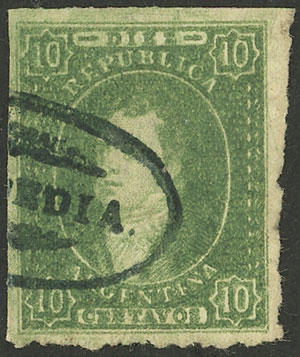 Lot 10 - Argentina rivadavias -  Guillermo Jalil - Philatino Auction # 2121 ARGENTINA: Special auction,118 lots with VERY LOW STARTS!!