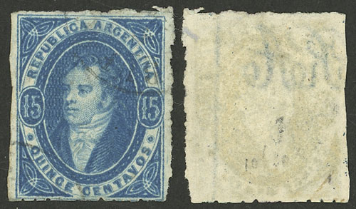 Lot 11 - Argentina rivadavias -  Guillermo Jalil - Philatino Auction # 2121 ARGENTINA: Special auction,118 lots with VERY LOW STARTS!!