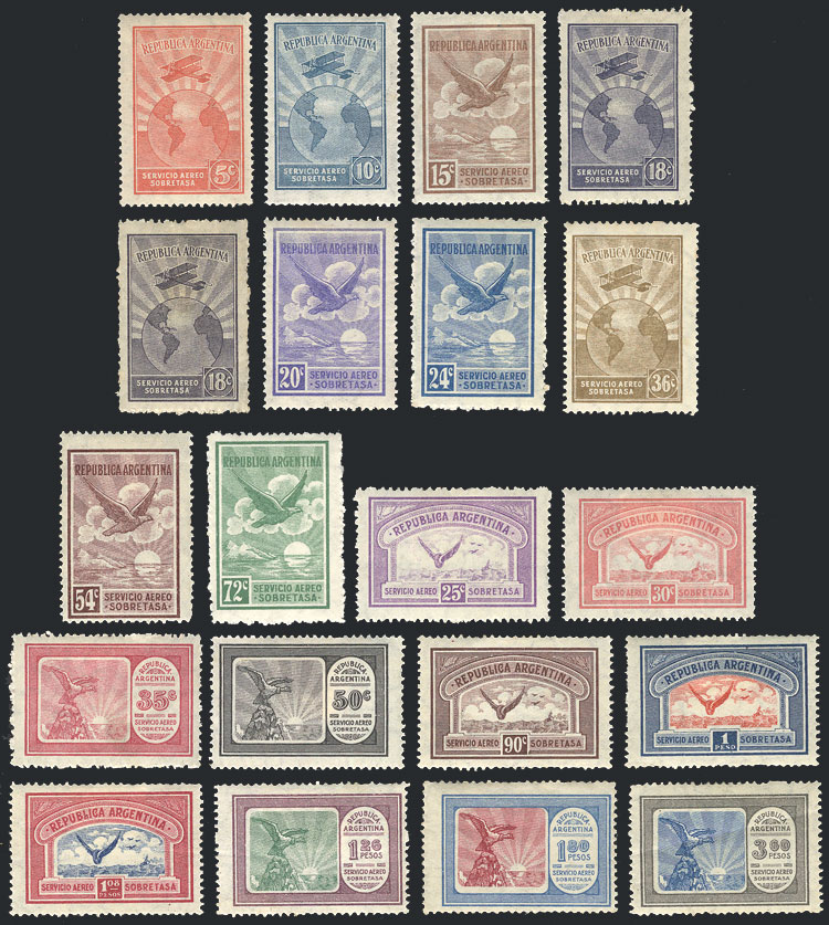 Lot 1476 - Argentina airmail -  Guillermo Jalil - Philatino Auction # 2122 ARGENTINA: