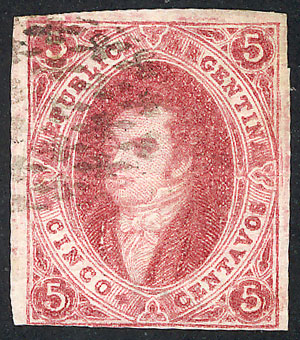 Lot 126 - Argentina rivadavias -  Guillermo Jalil - Philatino Auction # 2122 ARGENTINA: