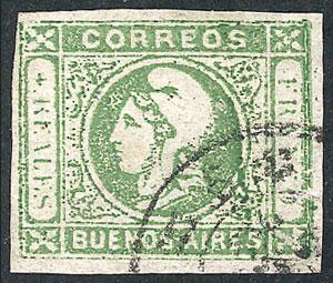 Lot 41 - Argentina cabecitas -  Guillermo Jalil - Philatino Auction # 2122 ARGENTINA: