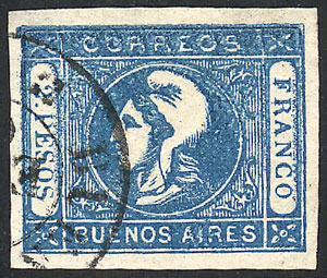 Lot 48 - Argentina cabecitas -  Guillermo Jalil - Philatino Auction # 2122 ARGENTINA: