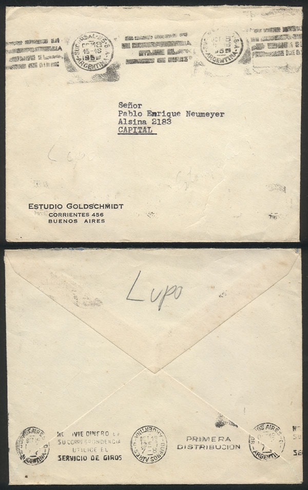 Lot 2042 - Argentina postal history -  Guillermo Jalil - Philatino Auction # 2122 ARGENTINA: