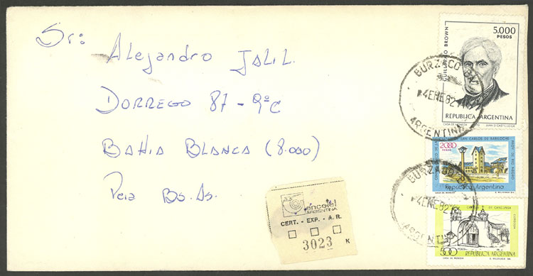 Lot 2113 - Argentina postal history -  Guillermo Jalil - Philatino Auction # 2122 ARGENTINA: