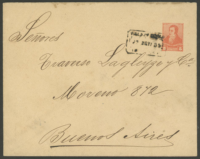 Lot 1976 - Argentina postal history -  Guillermo Jalil - Philatino Auction # 2122 ARGENTINA: