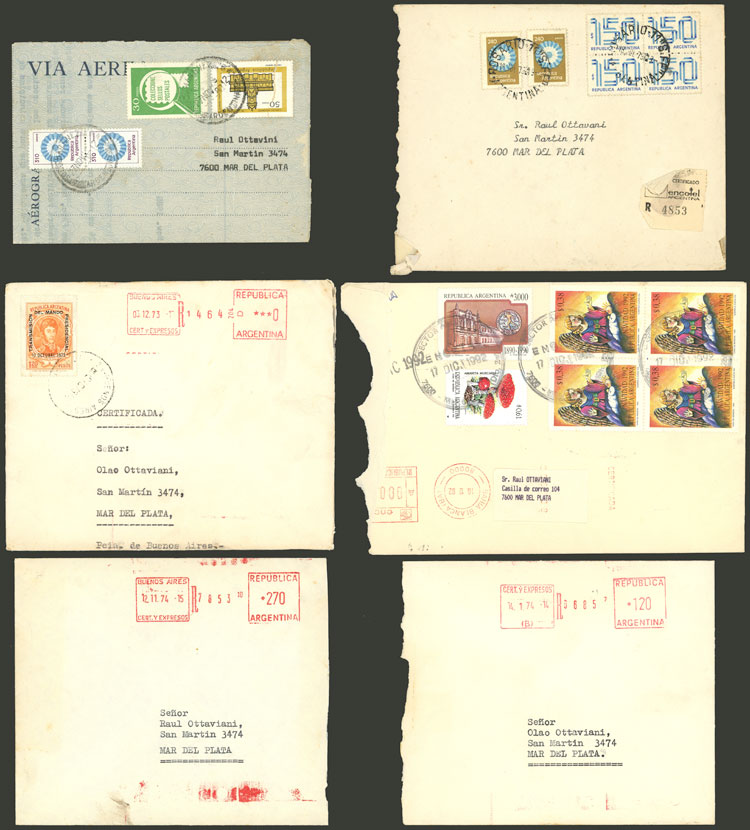 Lot 2082 - Argentina postal history -  Guillermo Jalil - Philatino Auction # 2122 ARGENTINA: