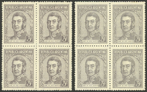 Lot 489 - Argentina general issues -  Guillermo Jalil - Philatino Auction # 2122 ARGENTINA: