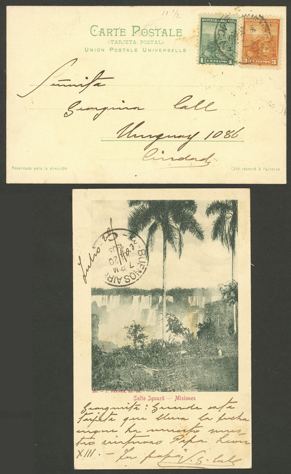 Lot 1983 - Argentina postal history -  Guillermo Jalil - Philatino Auction # 2122 ARGENTINA: