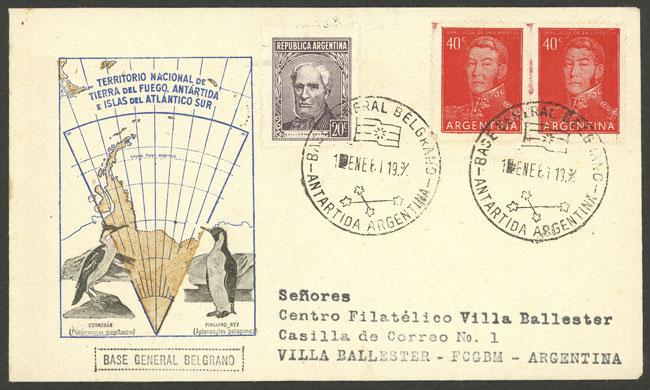 Lot 7 - argentine antarctica postal history -  Guillermo Jalil - Philatino Auction # 2122 ARGENTINA: