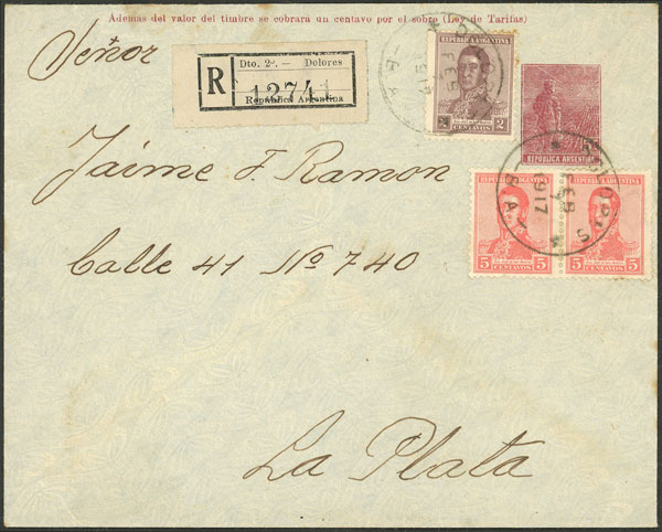 Lot 1989 - Argentina postal history -  Guillermo Jalil - Philatino Auction # 2122 ARGENTINA: