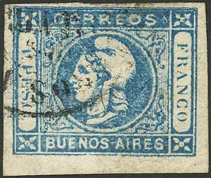 Lot 43 - Argentina cabecitas -  Guillermo Jalil - Philatino Auction # 2122 ARGENTINA: