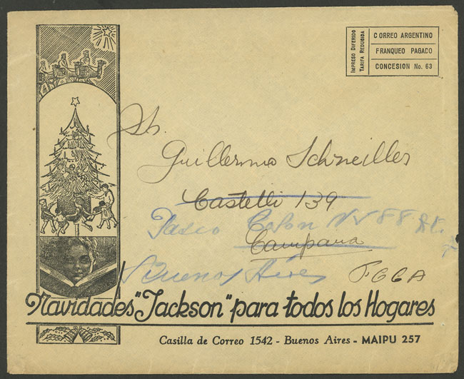 Lot 1997 - Argentina postal history -  Guillermo Jalil - Philatino Auction # 2122 ARGENTINA: