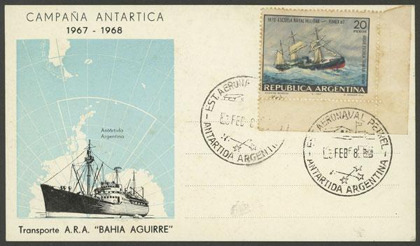 Lot 11 - argentine antarctica postal history -  Guillermo Jalil - Philatino Auction # 2122 ARGENTINA: