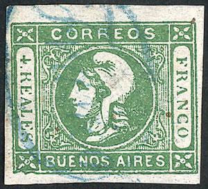 Lot 42 - Argentina cabecitas -  Guillermo Jalil - Philatino Auction # 2122 ARGENTINA: