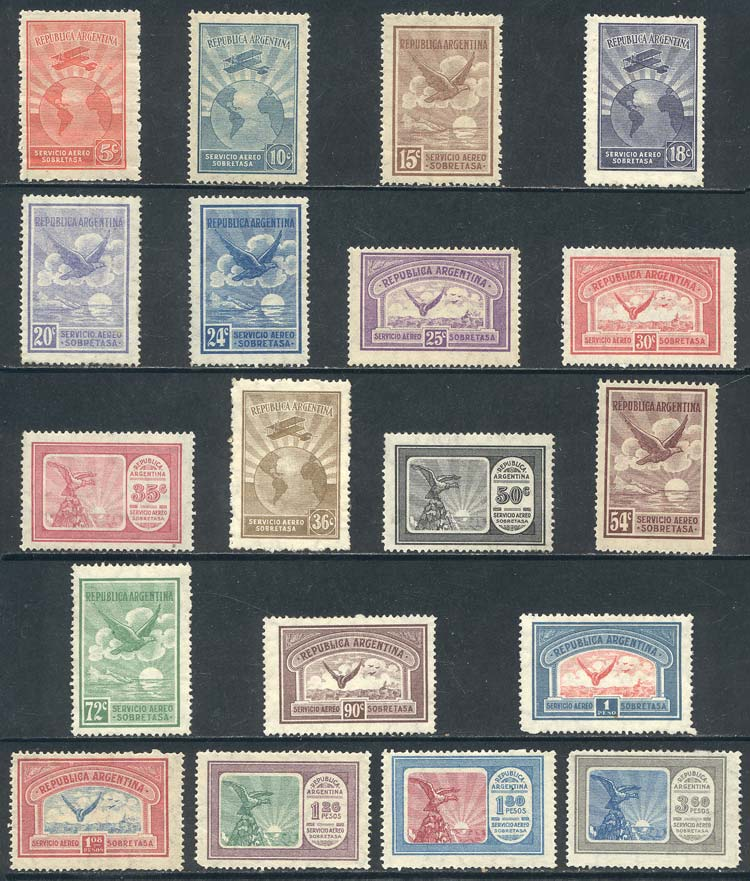 Lot 1475 - Argentina airmail -  Guillermo Jalil - Philatino Auction # 2122 ARGENTINA: