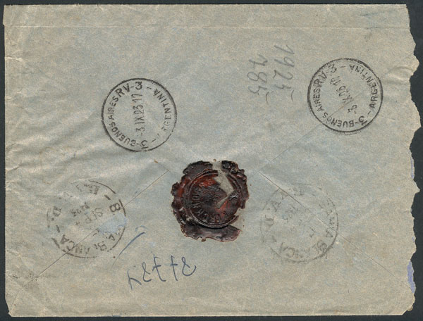Lot 1993 - Argentina postal history -  Guillermo Jalil - Philatino Auction # 2122 ARGENTINA: