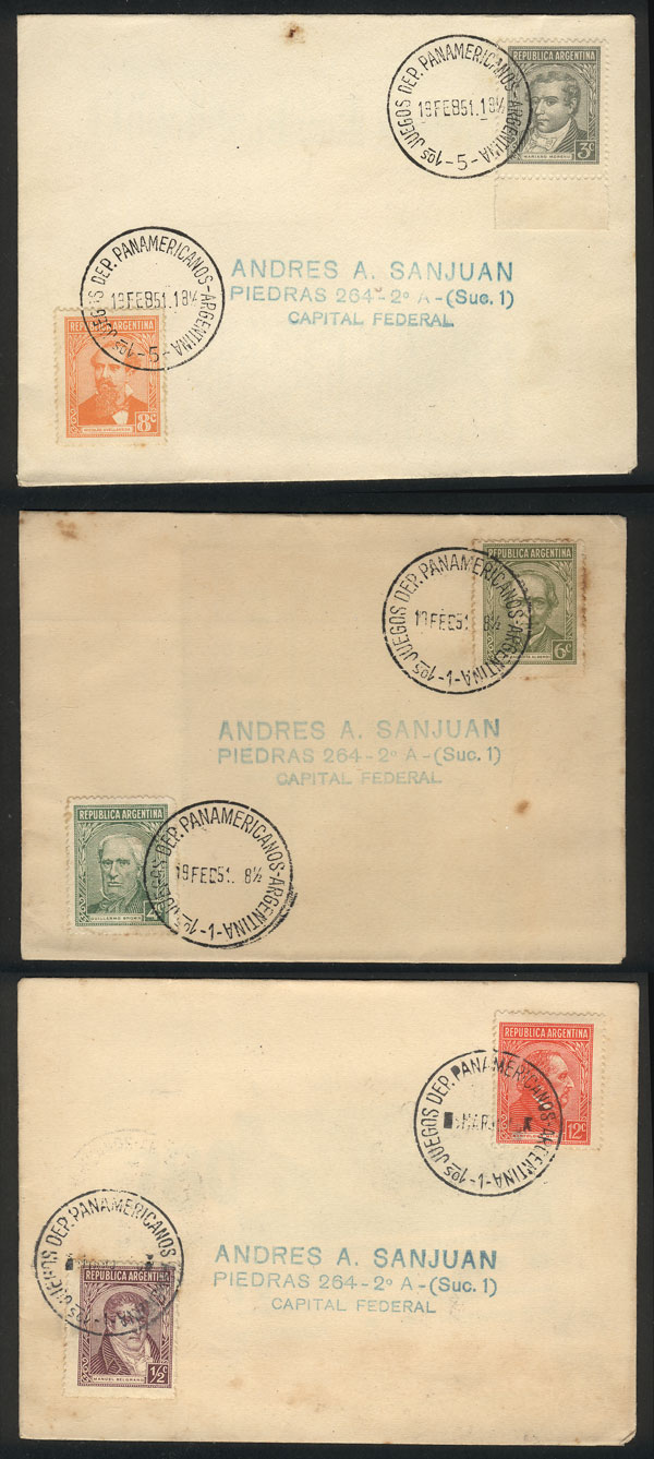 Lot 2030 - Argentina postal history -  Guillermo Jalil - Philatino Auction # 2122 ARGENTINA:
