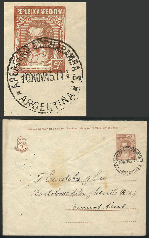 Lot 2021 - Argentina postal history -  Guillermo Jalil - Philatino Auction # 2122 ARGENTINA: