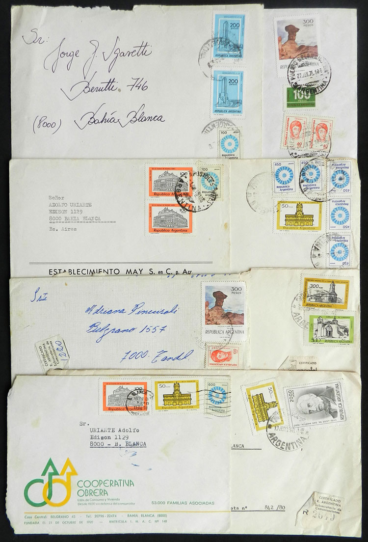 Lot 2132 - Argentina postal history -  Guillermo Jalil - Philatino Auction # 2122 ARGENTINA: